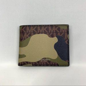Michael Kors Men's Kent Wallet khaki camouflage